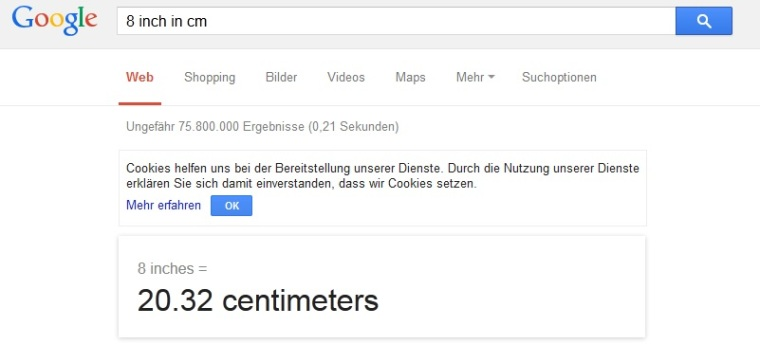 google converter Tool umrechnen Strickanleitungen