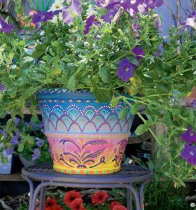Bine Brändle: Meinbuntes Jahr, bunte Blumentöpfe