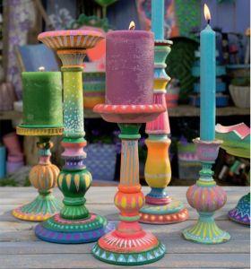 Bine Brändle: Mein buntes Jahr, bunte Kerzenständer