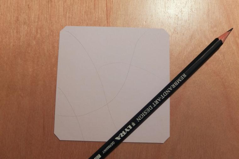 Tanglekärtchen mit Bleistiftlinien